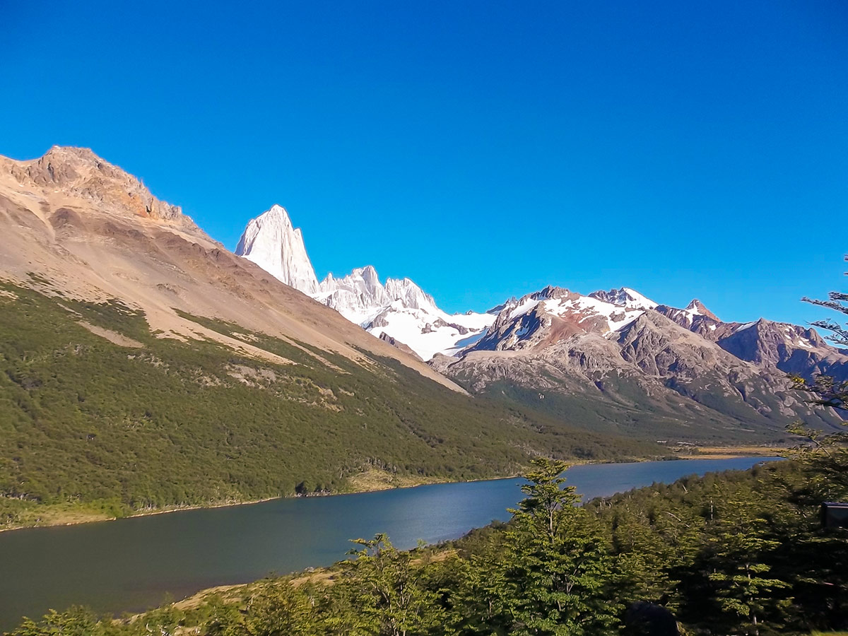 Madre and Hija Lagoons seen on day 4 of Guided Full Patagonia Adventure Trekking Tour