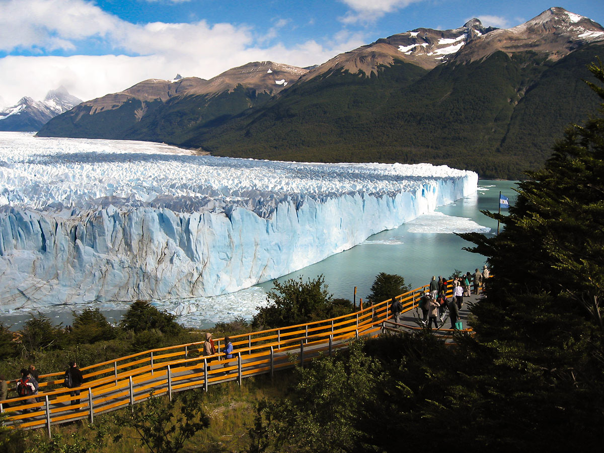 Moreno Glacier in Argentinean Patagonia on Full Patagonia Adventure Tour with group