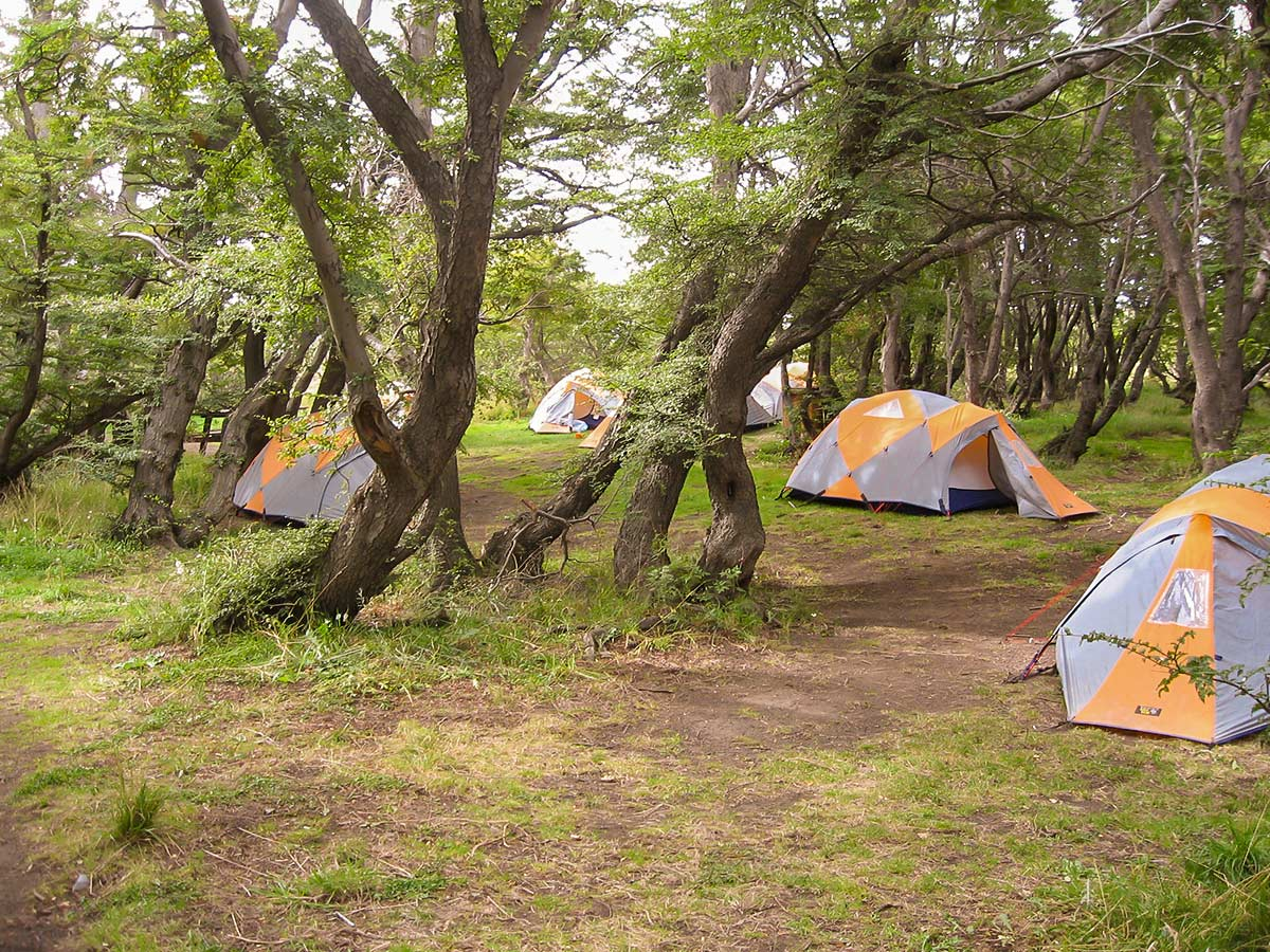 Our Camp at Las Torres Full Patagonia Adventure Tour