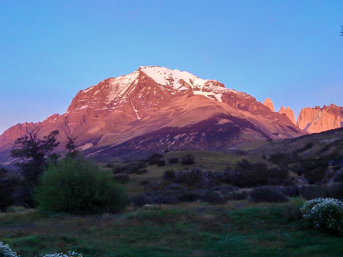 Sunrise at Las Torres del Paine on Full Patagonia Adventure Tour