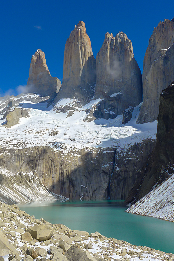 Paine Towers viewpoint is a highlight of Full Patagonia Adventure Tour in Chile and Argentina