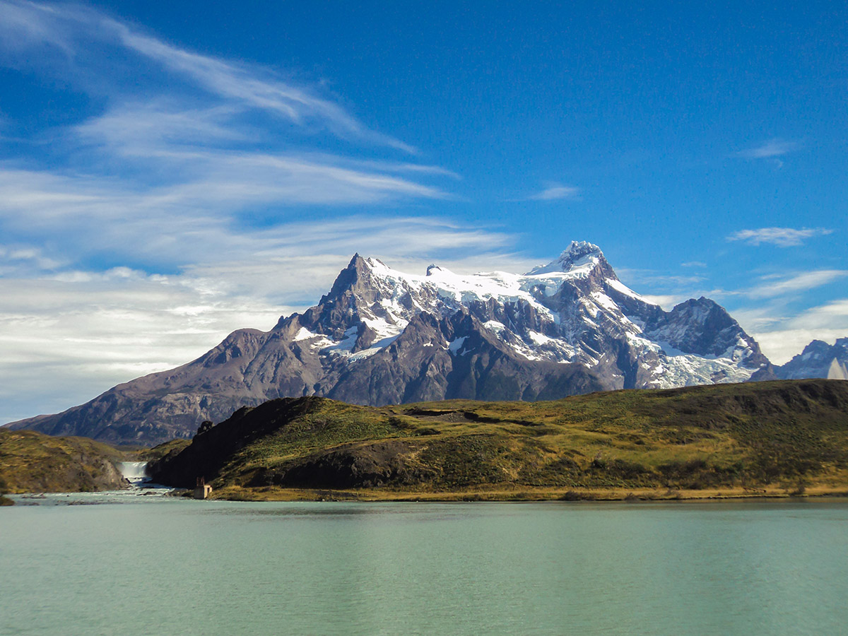 Paine Grande in Chile seen on day 10 of Full Patagonia Adventure Trekking Tour