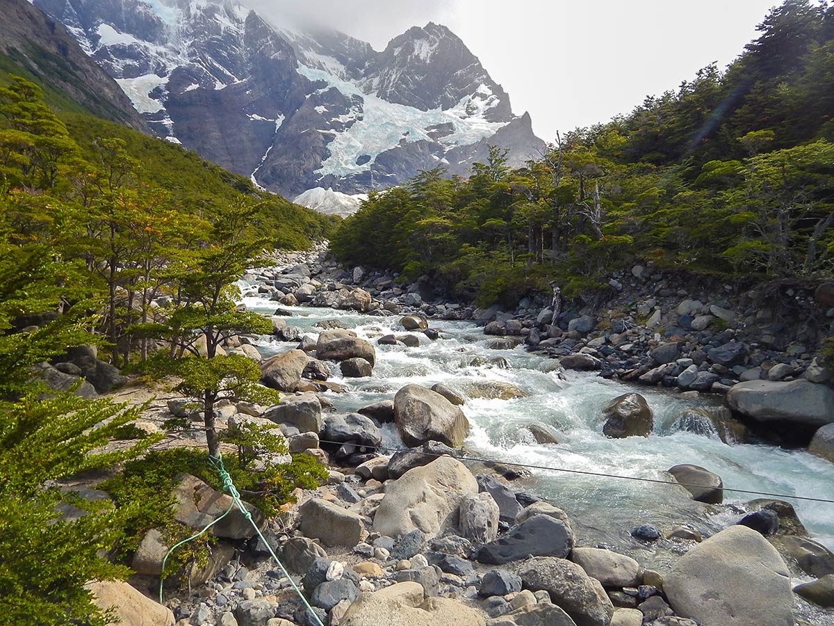 French Valley in Chilean Patagonia seen on day 10 of Full Patagonia Adventure Tour with group