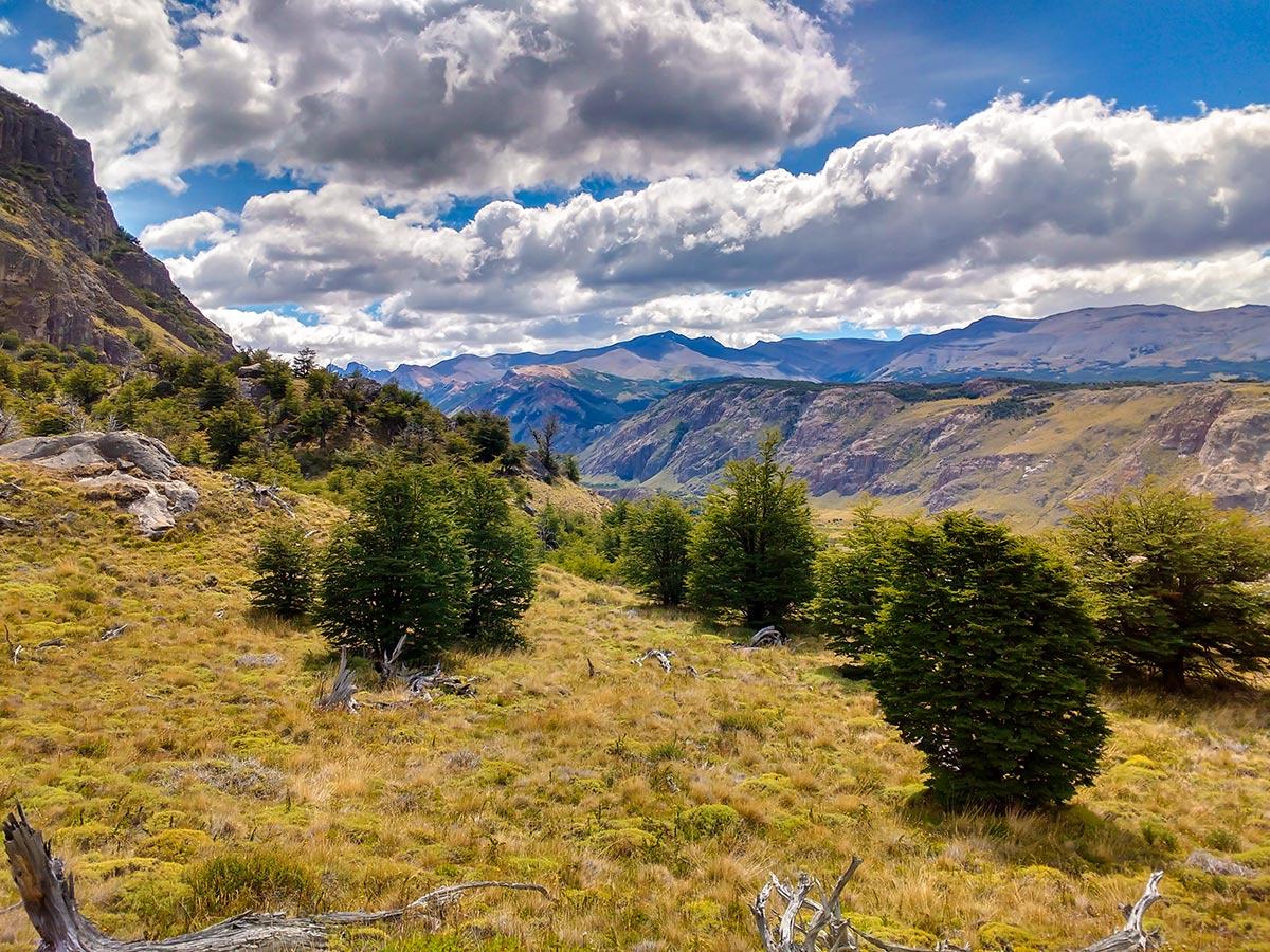 Rios de las Vueltas Valley in Argentinean Patagonia seen on Full Patagonia Adventure Tour