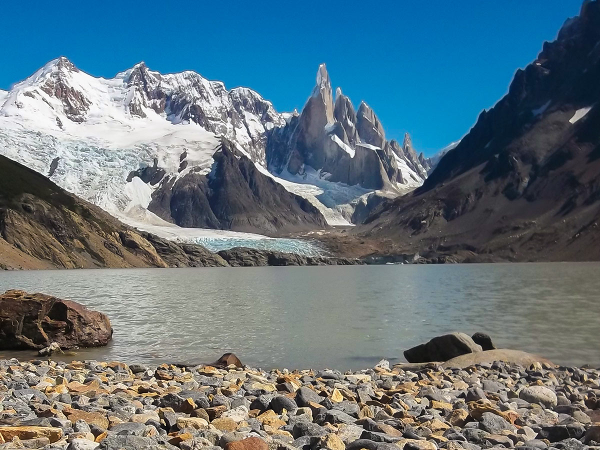 Laguna Torre in Argentinean Patagonia seen on Los Glaciares and Paine Adventure