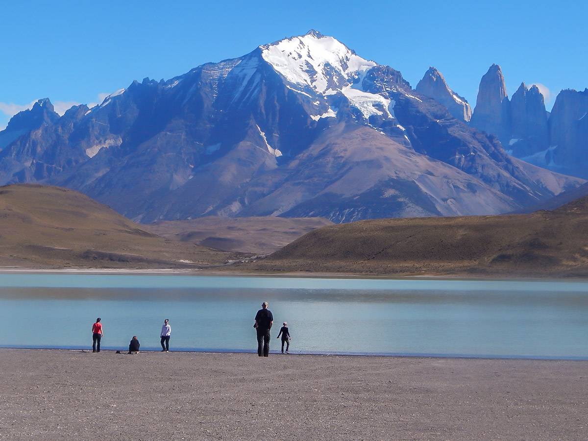 Beautiful views of Mount Admiral Nieto seen on day 8 of Los Glaciares and Paine Adventure
