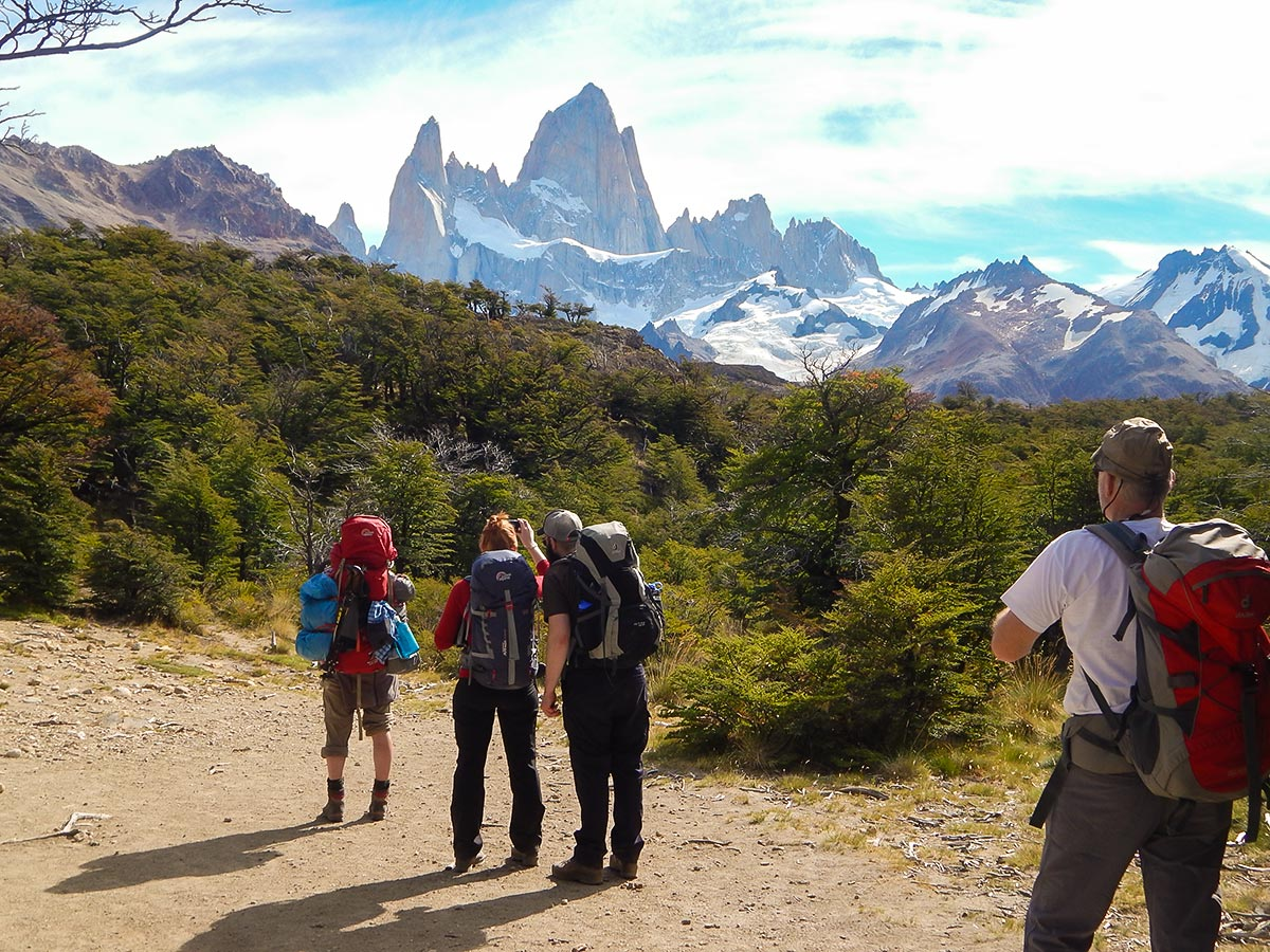 Fitz Roy Trail on day 2 of Los Glaciares Trek