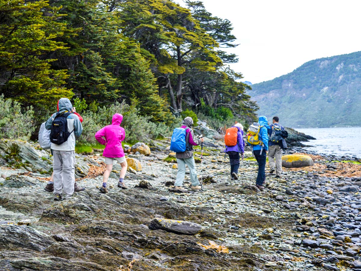 Torres del Paine Ushuaia Adventure Tour includes trekking in the famous Tierra del Fuego National Park