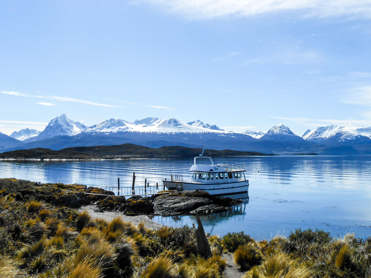 One of Patagonia pearls Beagle Chanel seen on Torres del Paine Ushuaia Adventure Tour