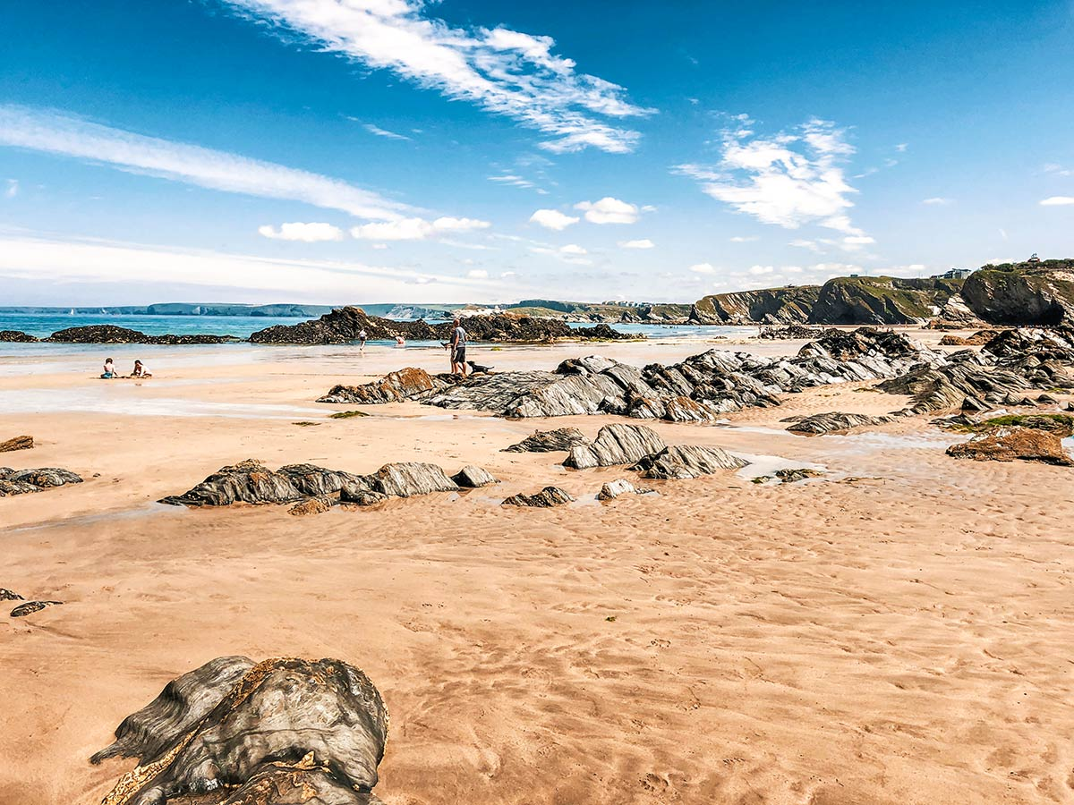 South West Coast Path walking tour includes visiting beautiful beaches of Newquay