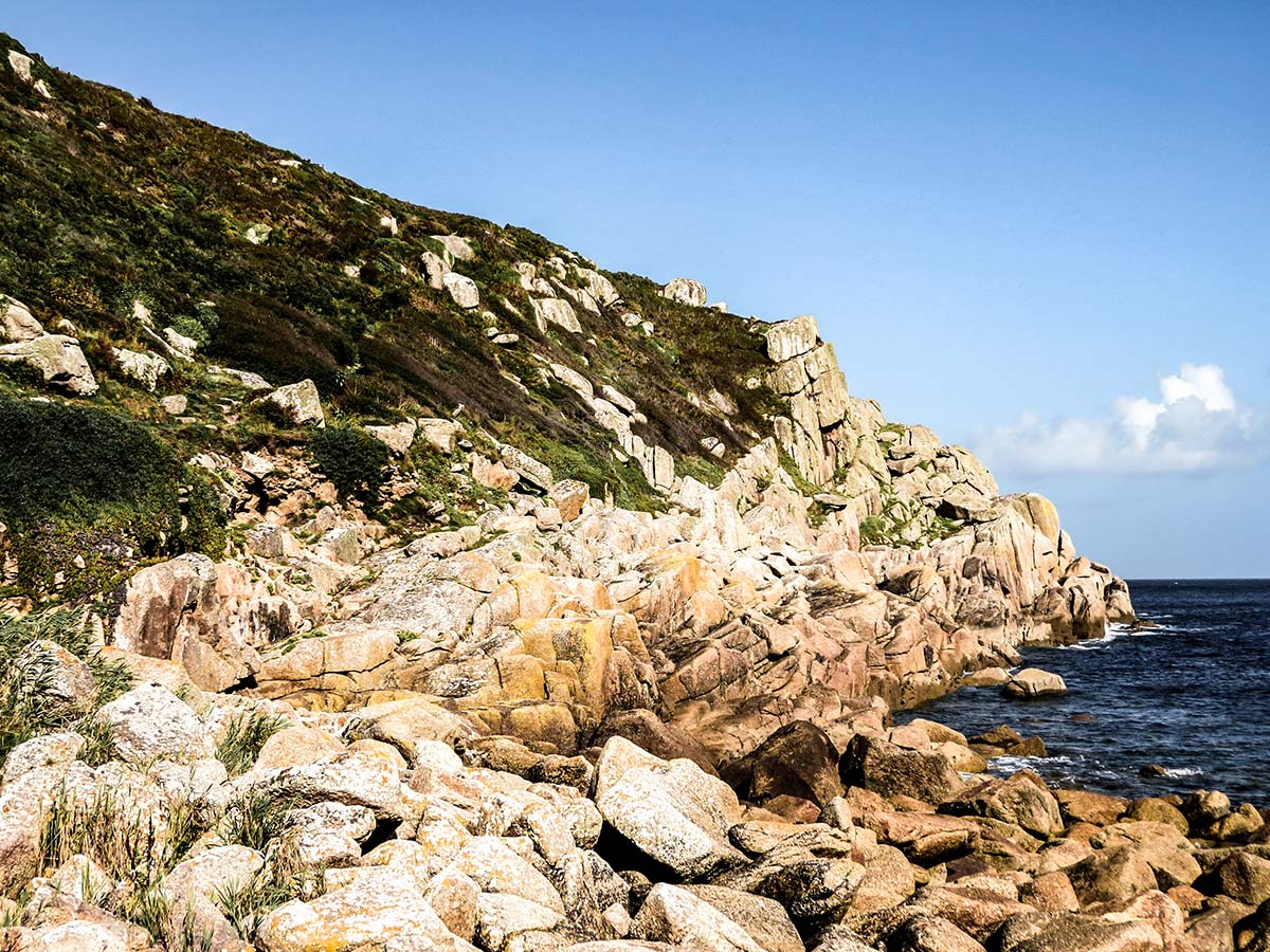 Several rocky coastal paths around Penzace that you pass through while on South West Coast Path