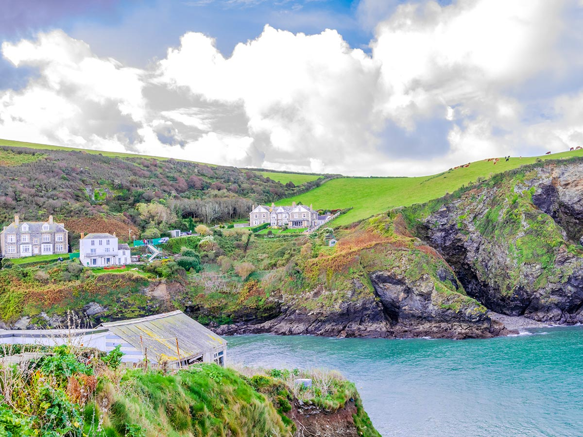 South West Coast Path leads along the village of Port Isaac