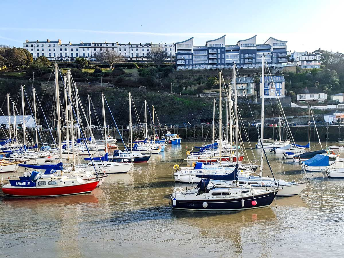 The quay of the Ilfracombe as seen on South West Coast Path Somerset and Devon walking tour