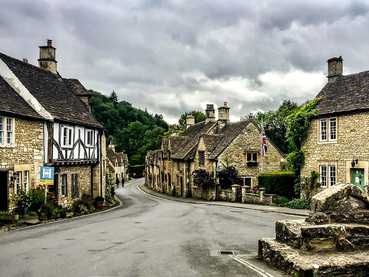 South West Coast Path Somerset and Devon walking tour includes visiting Castle Combe