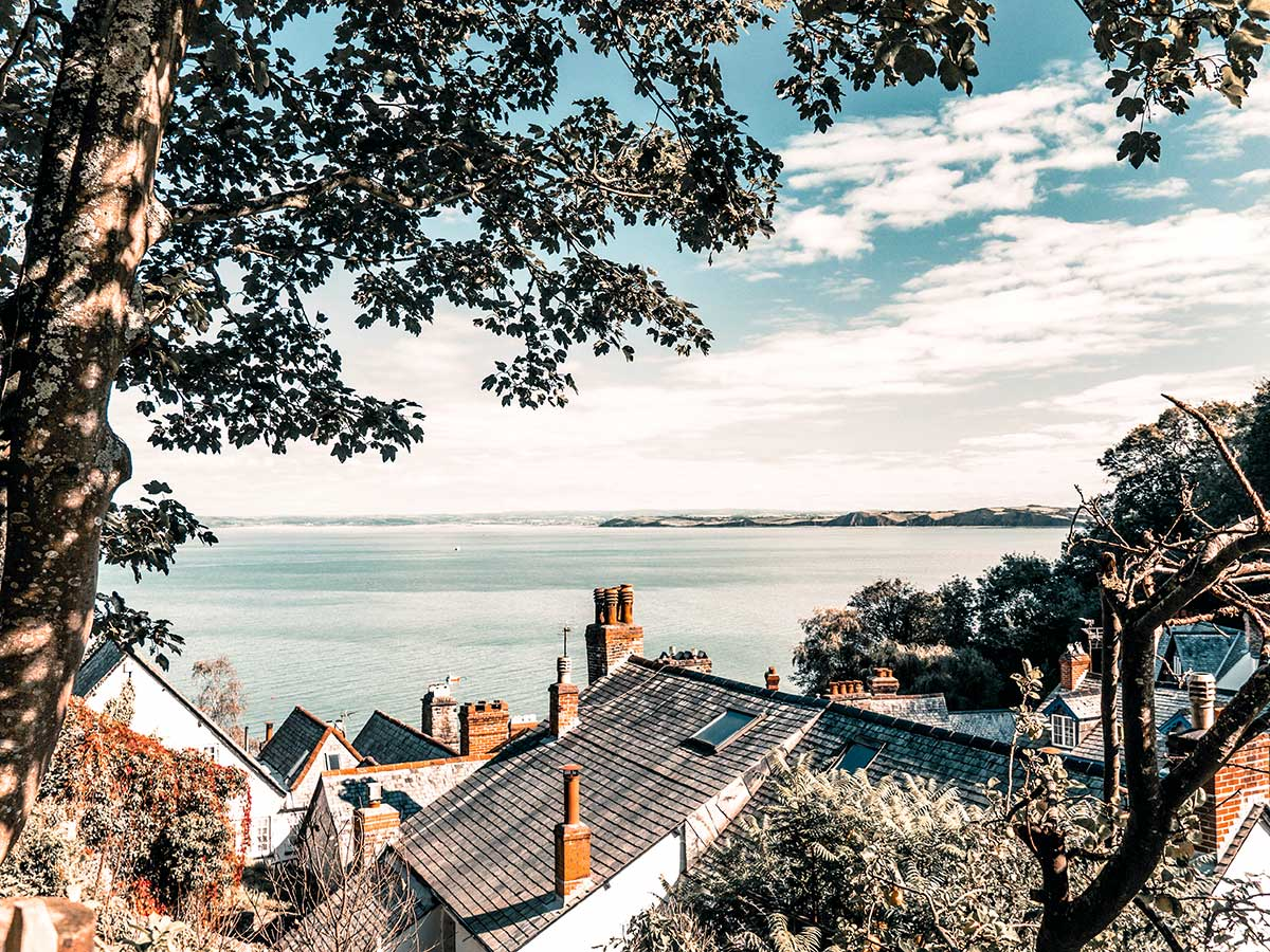 Beauitful Clovelly views on South West Coast Path Somerset and Devon walking tour