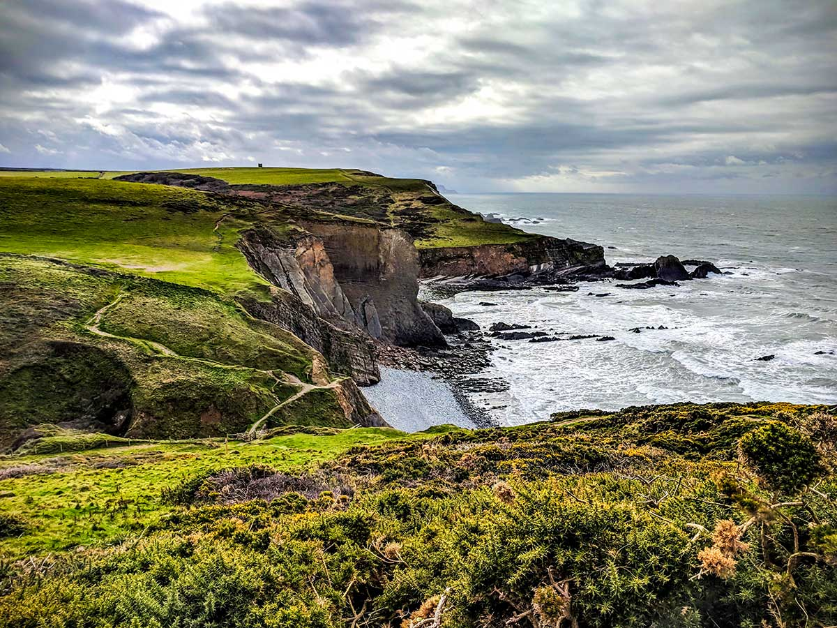 The coastal path surrounding Hartland on South West Coast Path walking tour looks beautiful