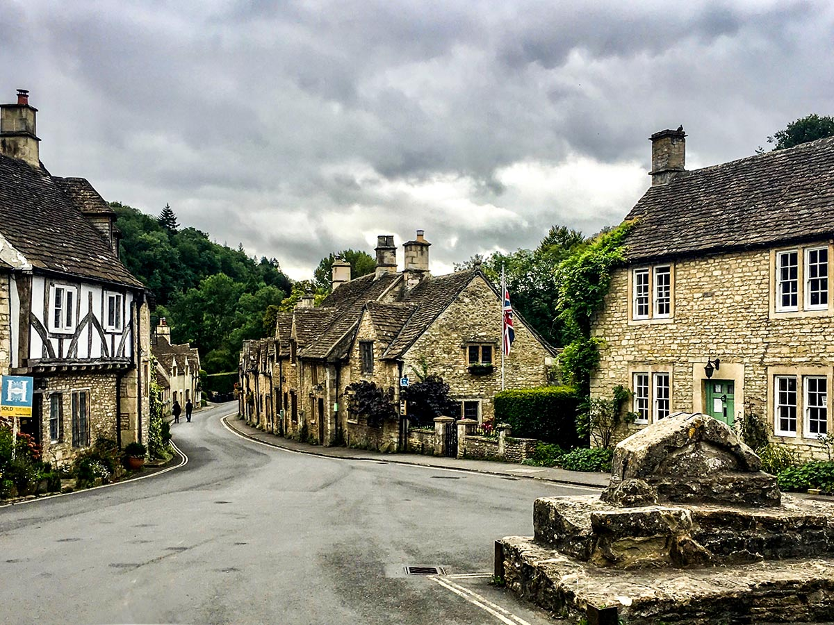 Castle Combe as seen on Stratford to Bath Cycling Tour