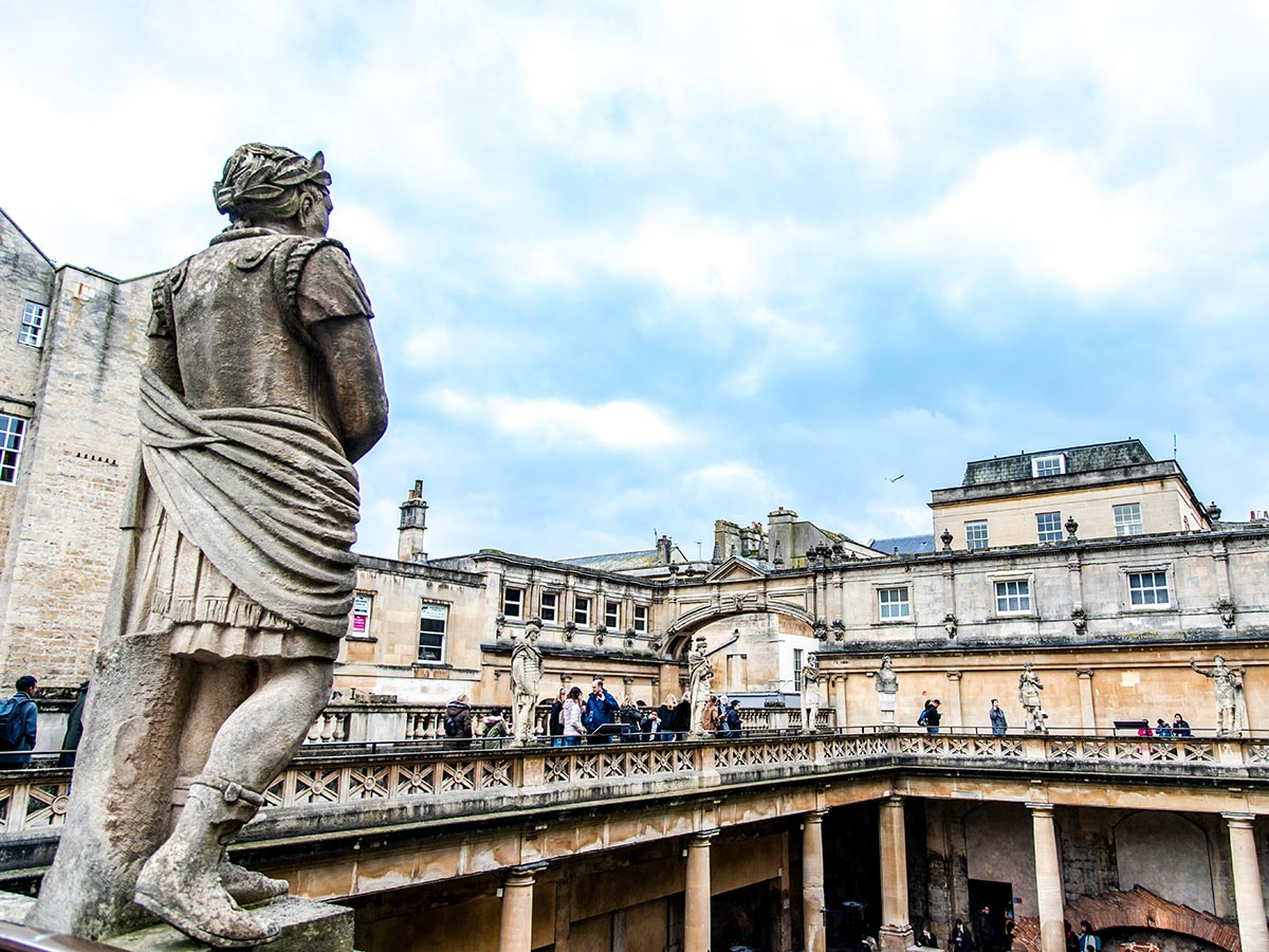 Stratford to Bath Cycling Tour ends at Bath where you have a chance to visit the Roman Baths