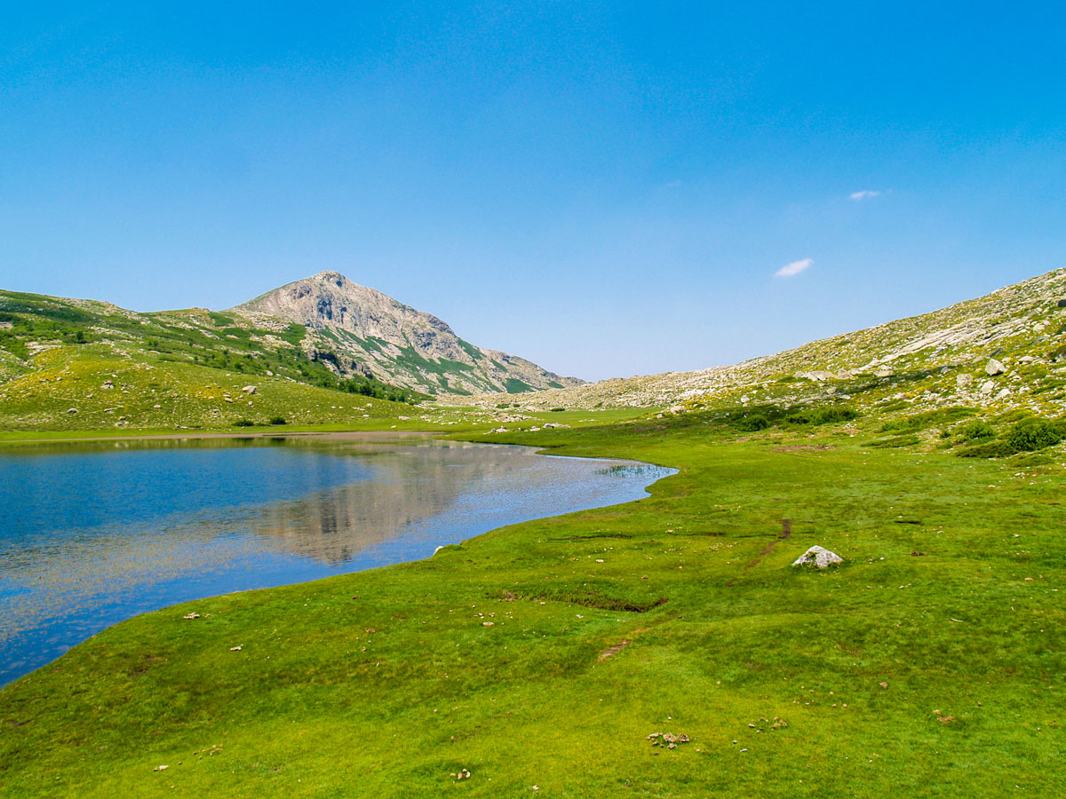 Donkey Trekking Tour in Corsica includes visiting Lac de Nino