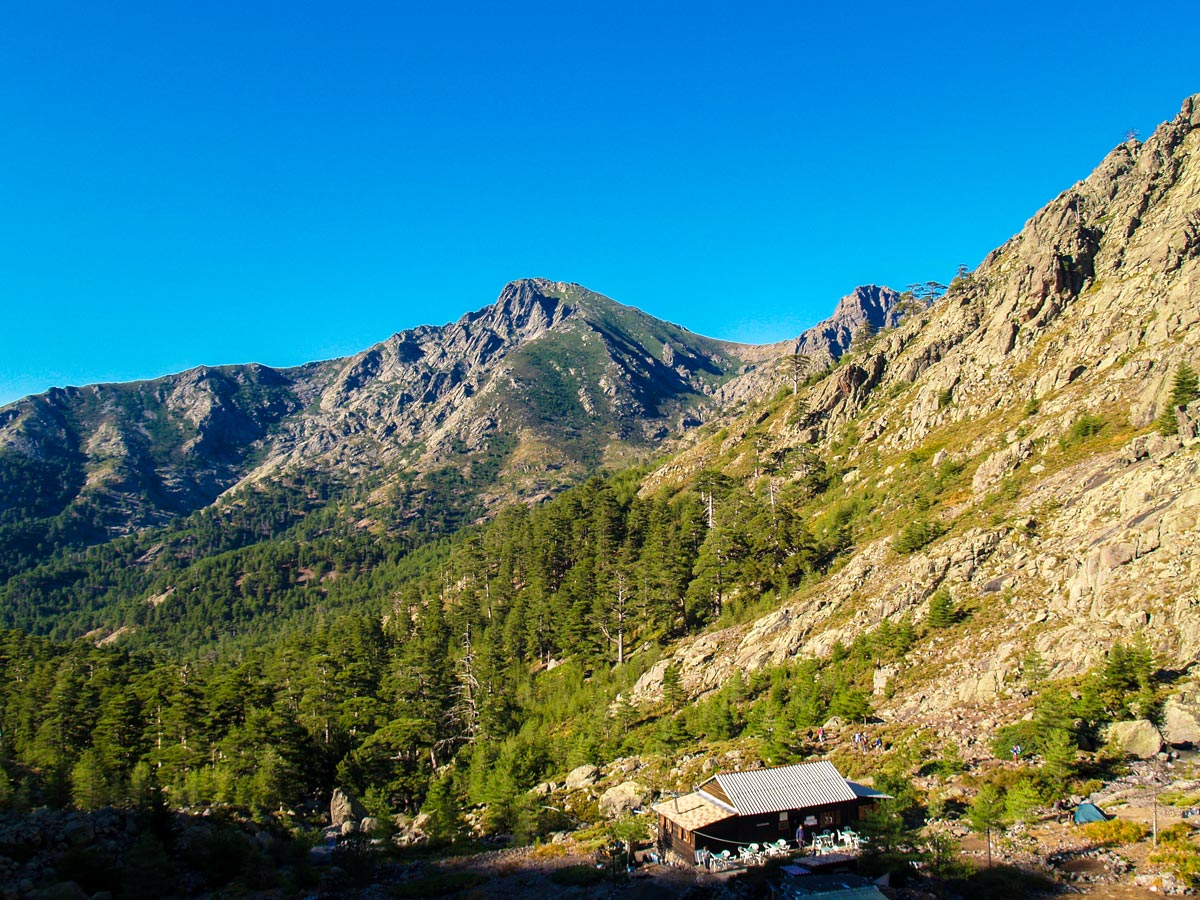 Corsican mountains along the Secret Corsica tour with donkeys