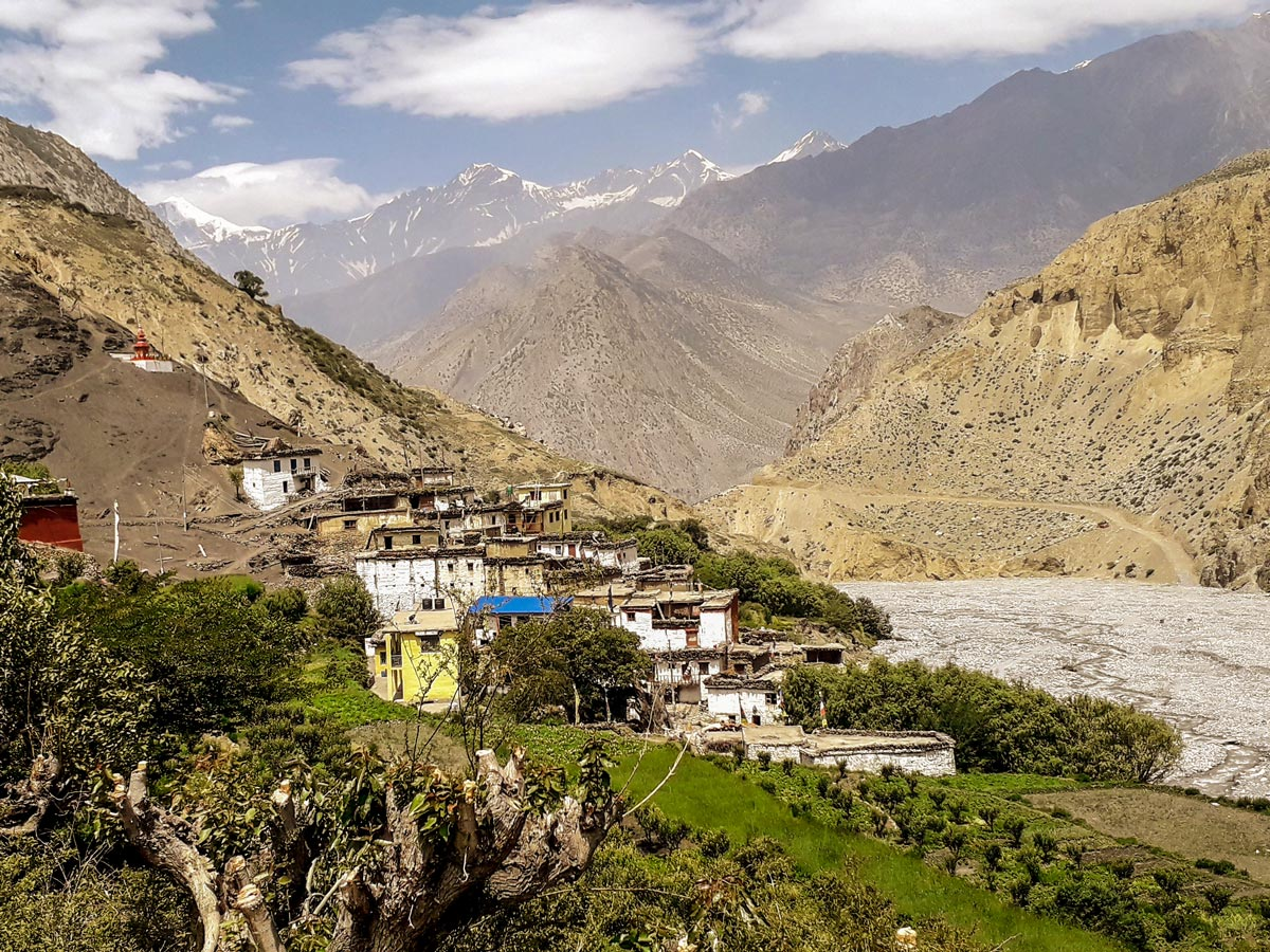 Annapurna Cycling tour in Nepal leads through several local villages