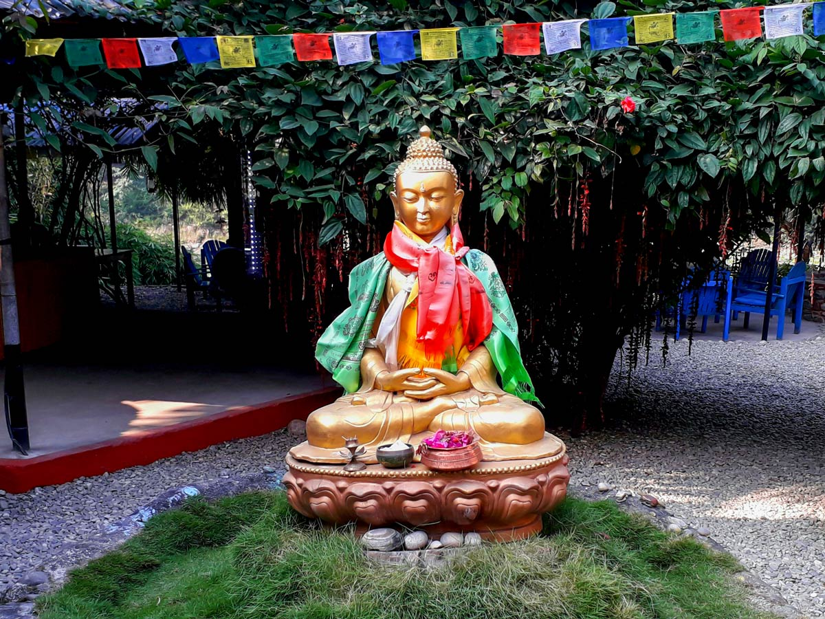 Buddha on Annapurna Cycling tour in Nepal