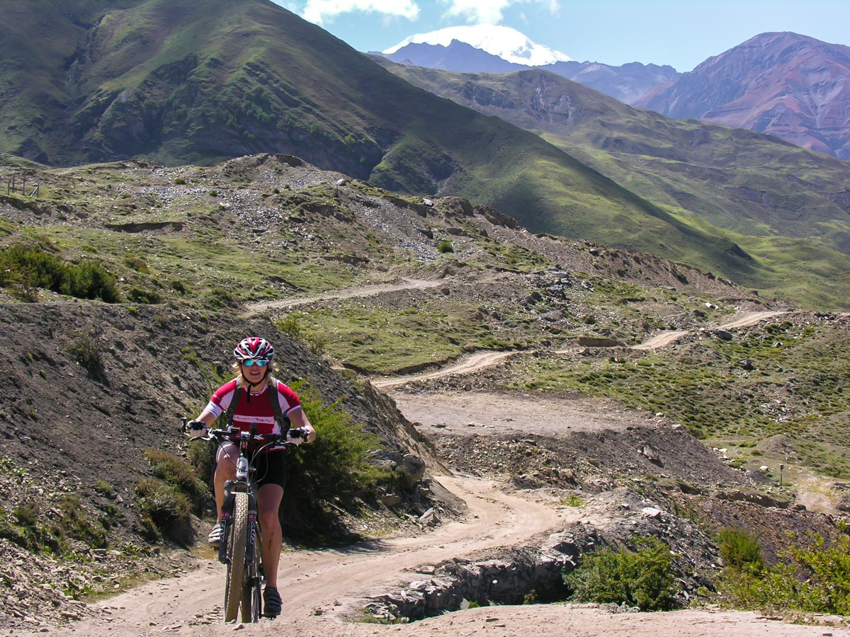 Beautiful trail of Annapurna Cycling tour in Nepal
