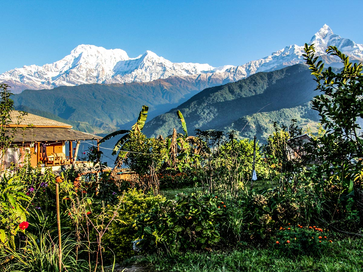 Stunning Himalayan mountain views on Family Adventure Tour in Nepal