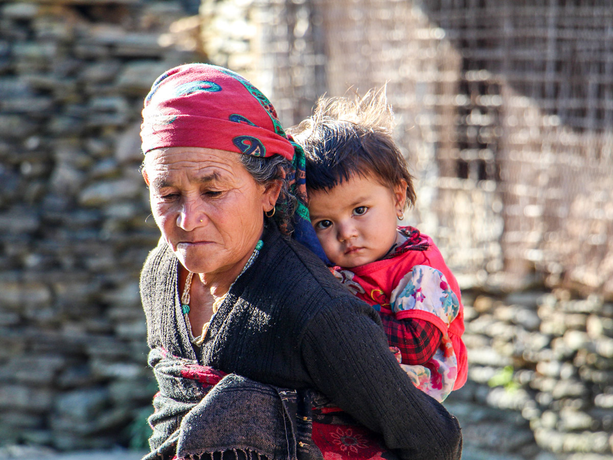 Local people met on Family Adventure Tour in Nepal