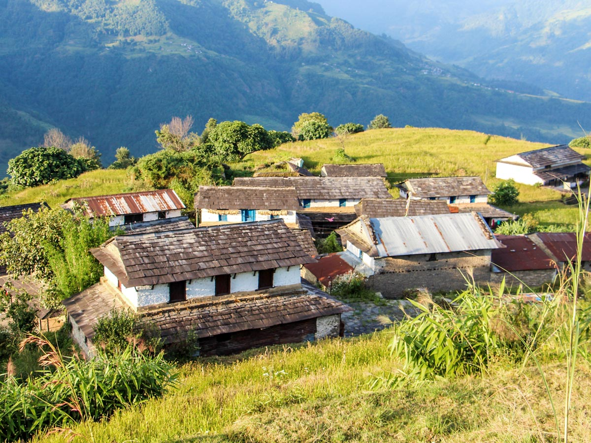 Family Adventure Tour in Nepal rewards with stunning views of Himalayas and local villages