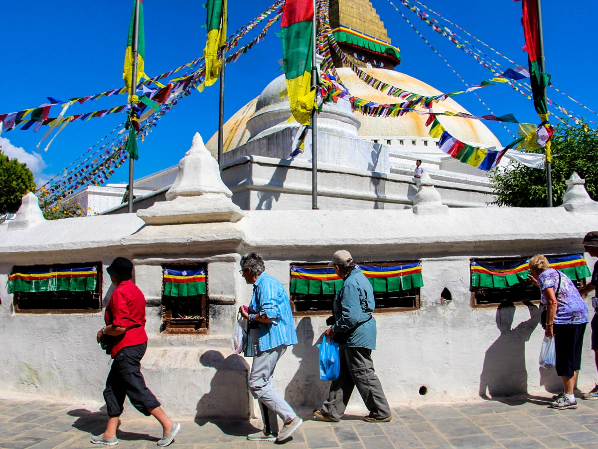 Himalayan architecture on Family Adventure Tour in Nepal