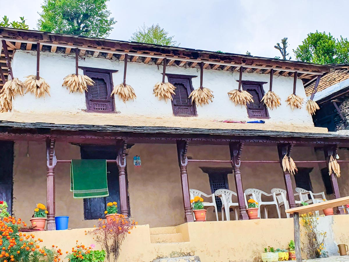 Cozy trekking lodge along the trail of Ghorepani and Poon Hill trek in Nepal