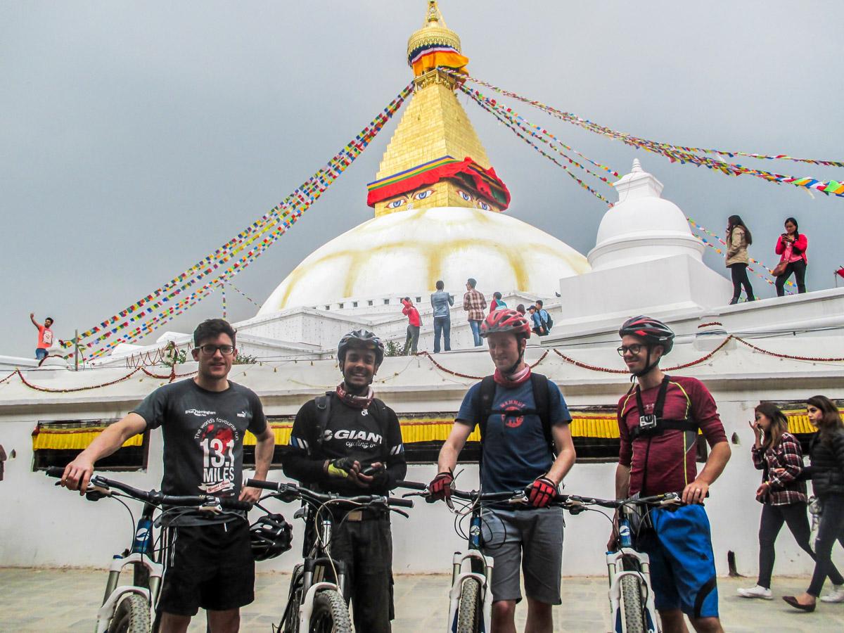 Beautiful architecture on Cycling around Kathmandu Tour in Nepal