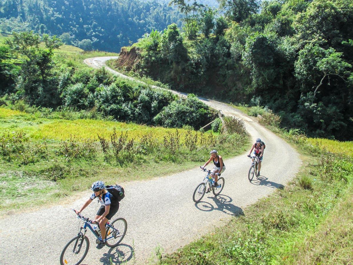 Bikers on Cycling around Kathmandu Tour in Nepal