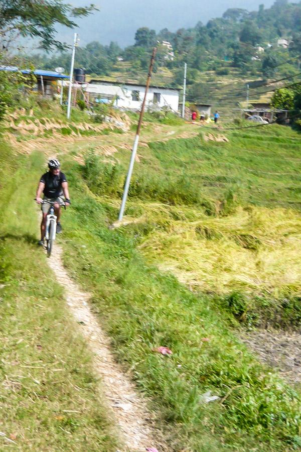 Comfortable path of Biking around Kathmandu Tour in Nepal