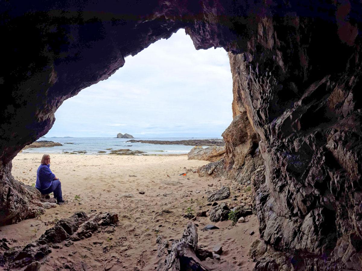 Cushendun caves on the Coastal Causeway Route & Donegal Trek in Ireland