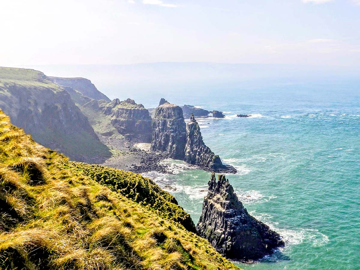Rathlin coast along the trail of Coastal Causeway Route & Donegal Trek