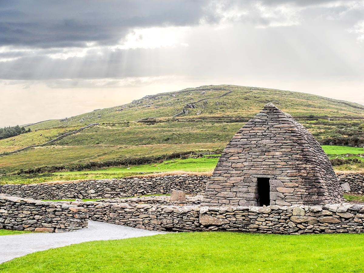 Deluxe Cycling in Kerry Mountains Tour includes biking to Gallarus Oratory