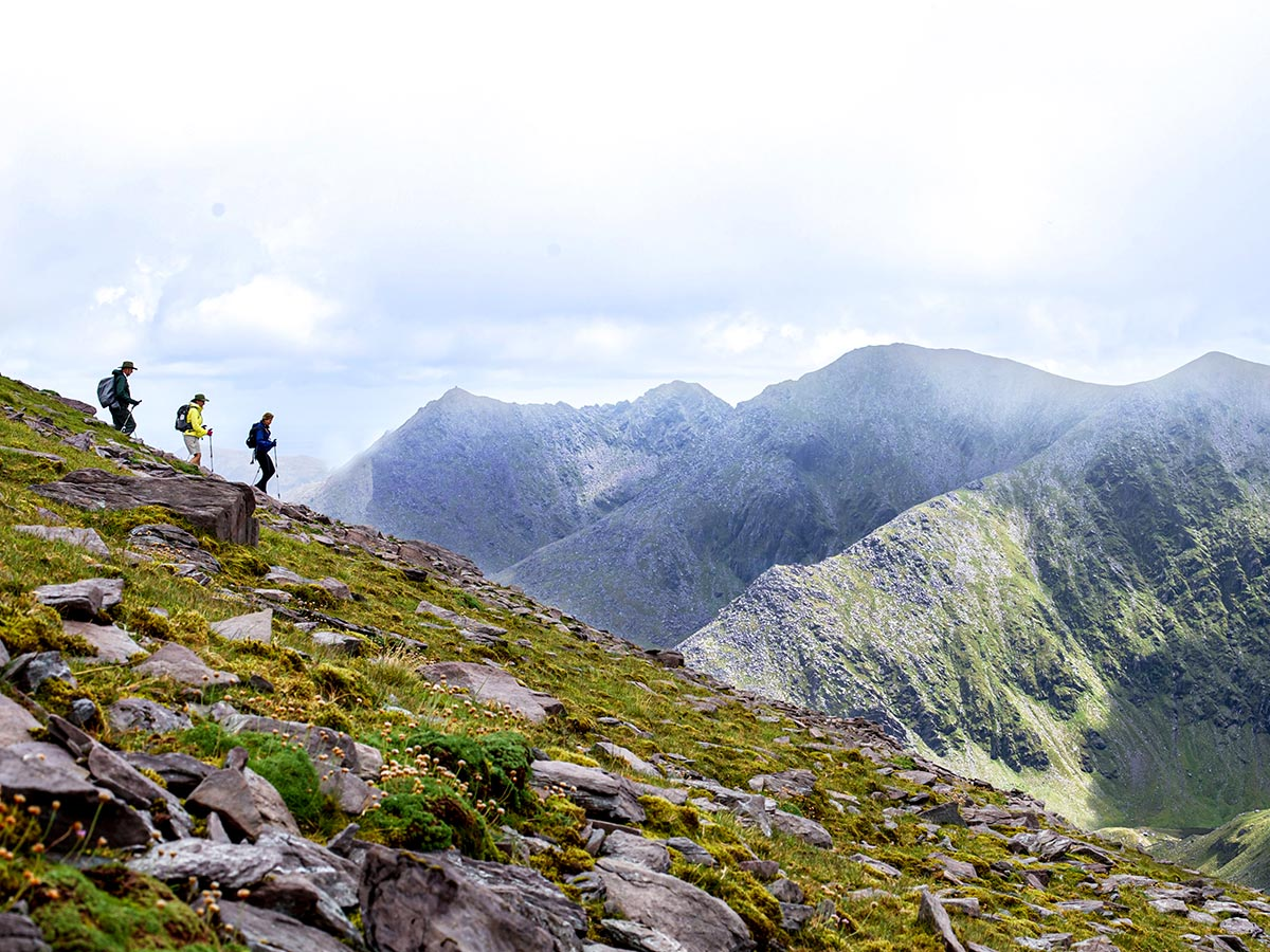 Deluxe Hiking Kerry Mountains tour include hiking the Carrauntoohil