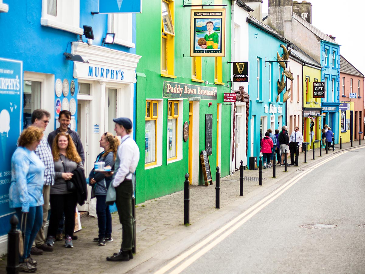 Deluxe Hiking Kerry Mountains tour includes visiting the Dingle town