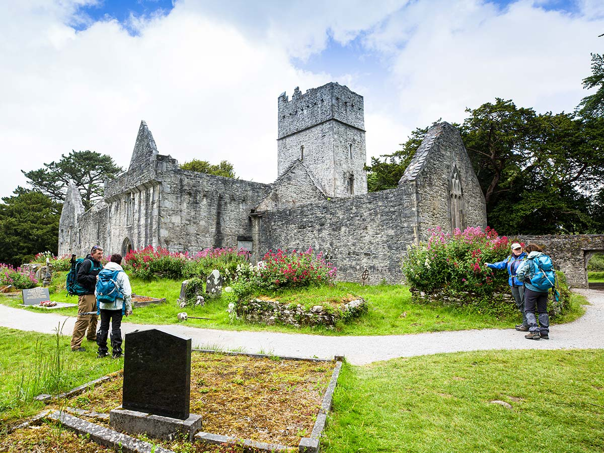 Muckross Abbey as seen on Deluxe Hiking Kerry Mountains tour