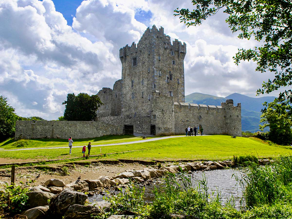 Ross Castle along the trail of Deluxe Hiking Kerry Mountains tour in Ireland