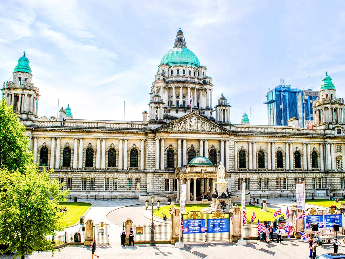 Belfast City Hall visited on Family Adventure Giants Myths Legends Tour