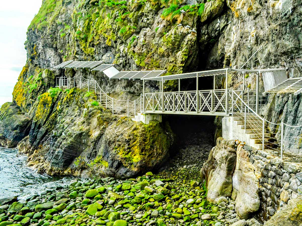 Gobbins Path is one of the highlights on Family Adventure Giants Myths Legends Tour