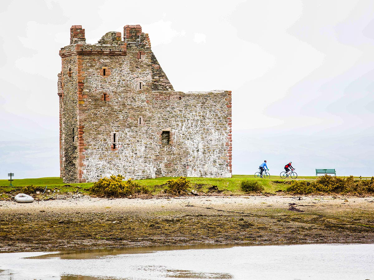 Beautiful old castle in the Arran Isle on Arran Islay and Jura Road Biking Tour