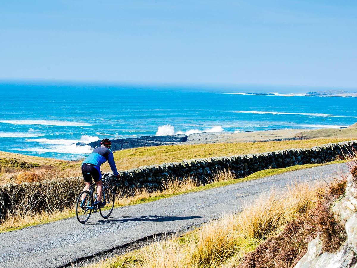 Beautiful scenery from a Arran Islay and Jura Road Biking Tour