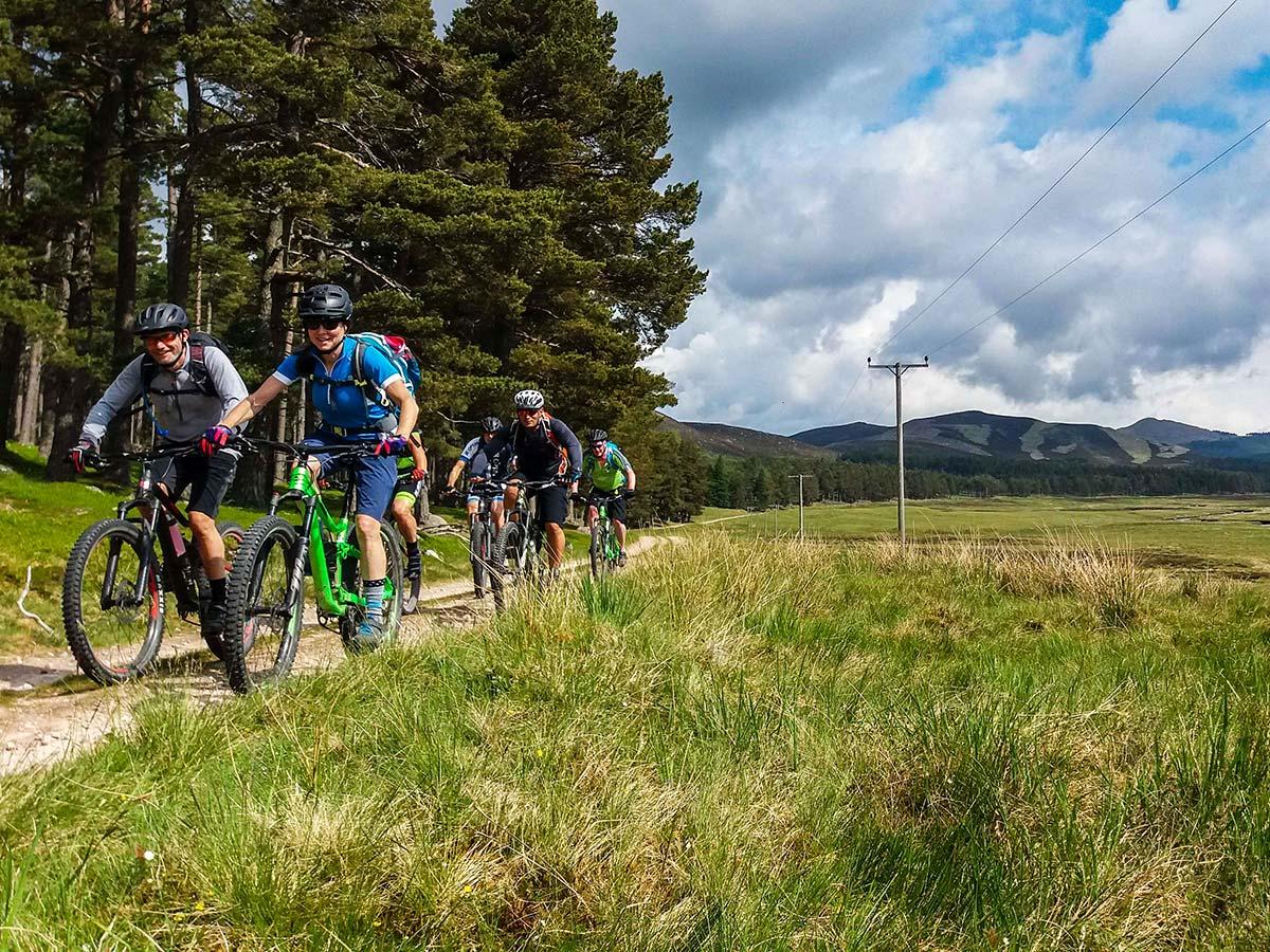 Beautiful countryside of Scotland as seen on guided Mountain Biking across Scotland tour