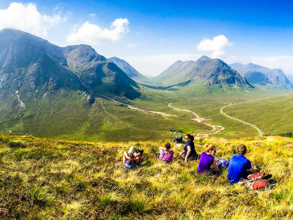 Glencoe and the Highlands trekking tour is a great walking adventure with a guide