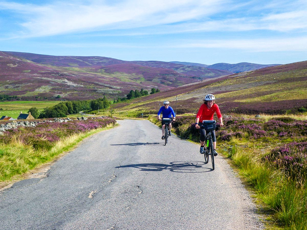 Two bikers on Road Cycling tour from Inverness to Edinburgh