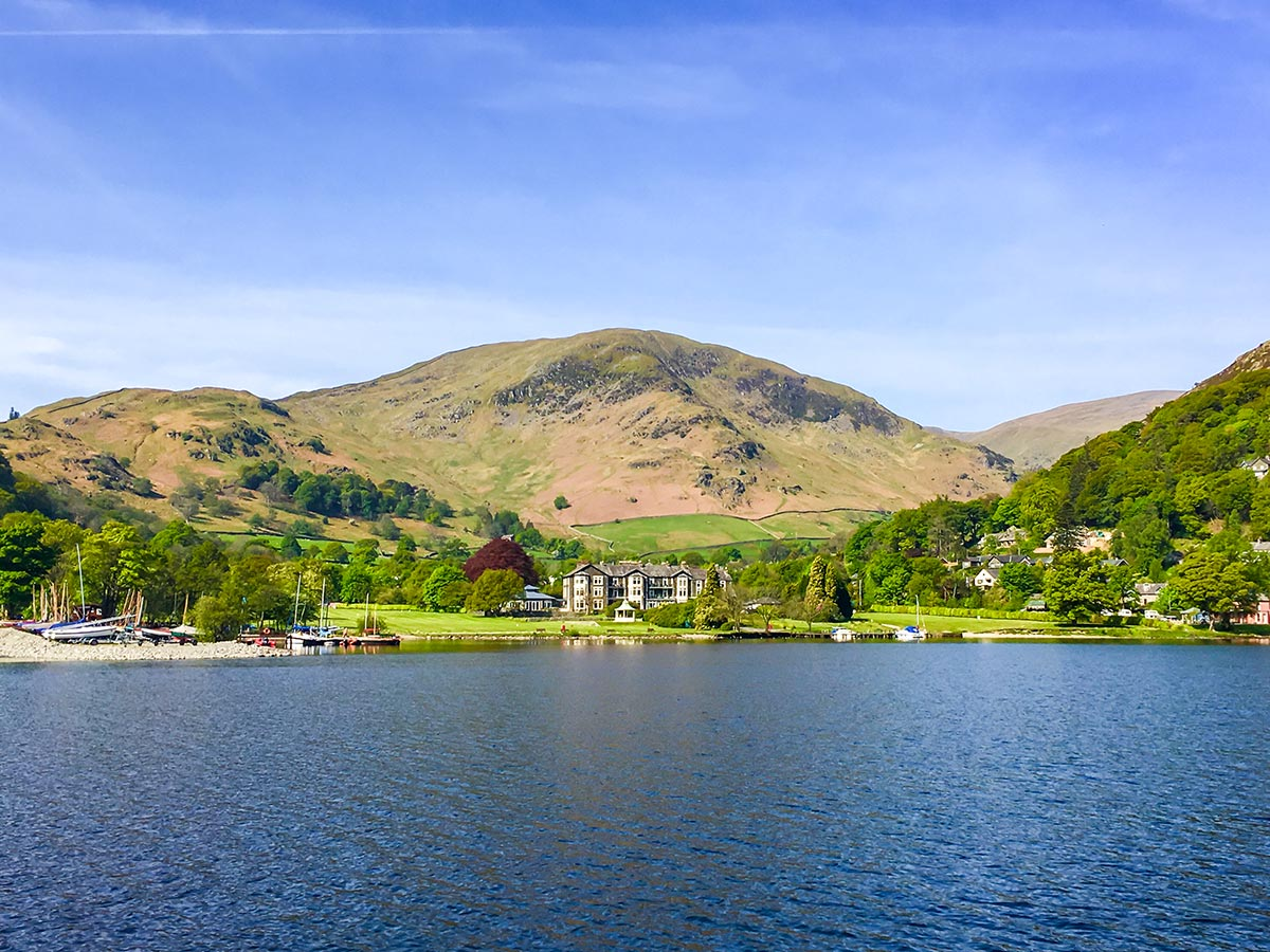Beautiful lakeside seen on National Parks of the UK Guided Walking Tour
